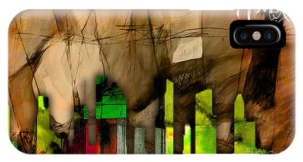 Houston Texas Skyline Watercolor IPhone Case
