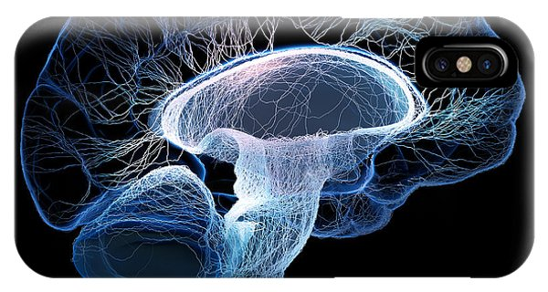 Background iPhone Case - Human Brain Complexity by Johan Swanepoel