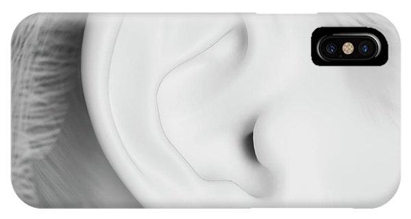 Human Ear Phone Case by Sebastian Kaulitzki