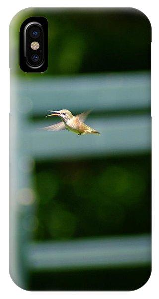 Hummer In Flight IPhone Case