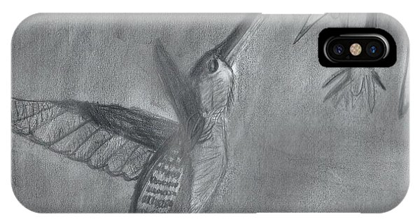 IPhone Case featuring the painting Hummingbird  by Epic Luis Art