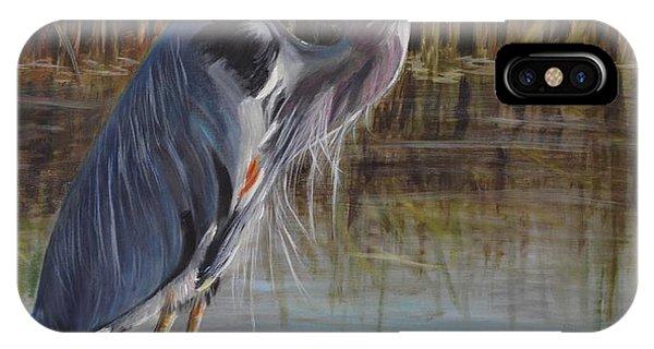 iPhone Case - Hunting Heron by Karen Langley