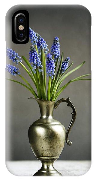 Grape iPhone X Case - Hyacinth Still Life by Nailia Schwarz