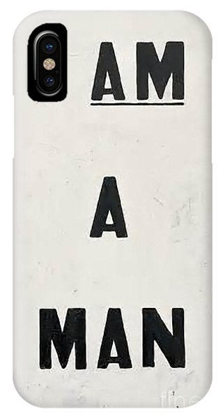 Men iPhone Case - I Am A Man by Baltzgar