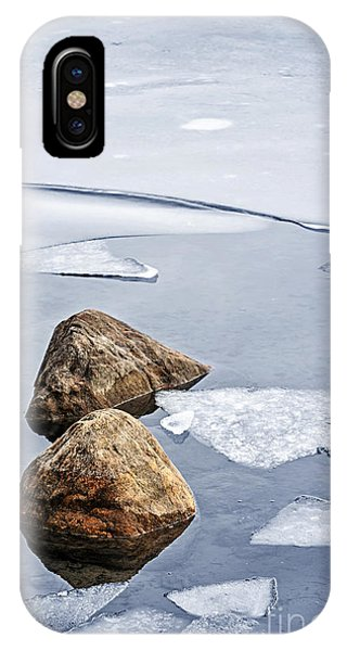 Ice iPhone Case - Icy Shore In Winter by Elena Elisseeva