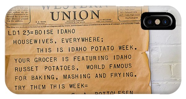 Idaho Potato Museum IPhone Case