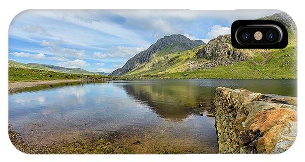 Heather iPhone Case -  Llyn Idwal Snowdonia by Adrian Evans