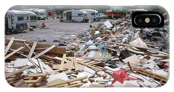 Caravan iPhone Case - Illegal Rubbish Dump by Robert Brook/science Photo Library