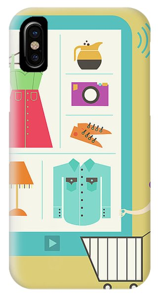Illustration Of Online Shopping Phone Case by Fanatic Studio / Science Photo Library