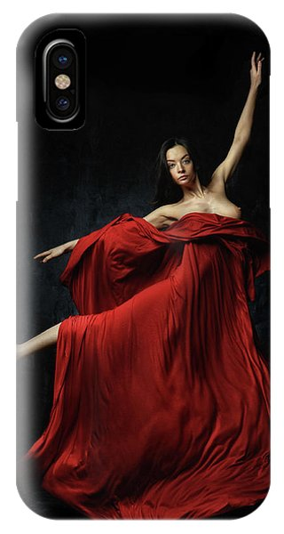 Pose iPhone Case - In Red by Constantin Shestopalov