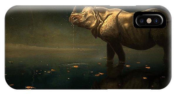Indian Rhino IPhone Case