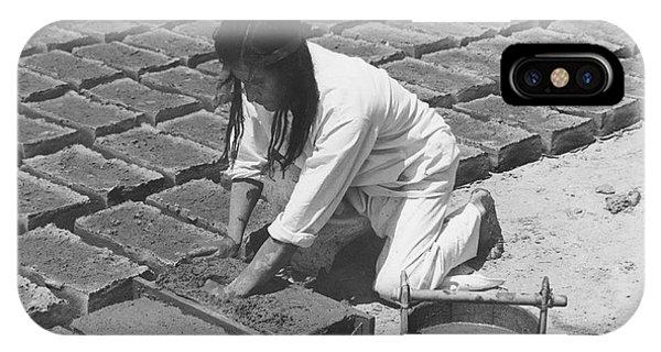 Indians Making Adobe Bricks IPhone Case