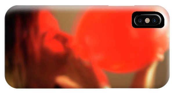 Oxide iPhone Case - Inhaling Nitrous Oxide From A Balloon by Cordelia Molloy