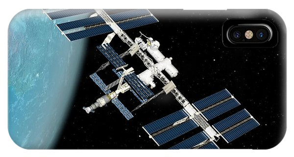 International Space Station iPhone Case - International Space Station by Sciepro/science Photo Library
