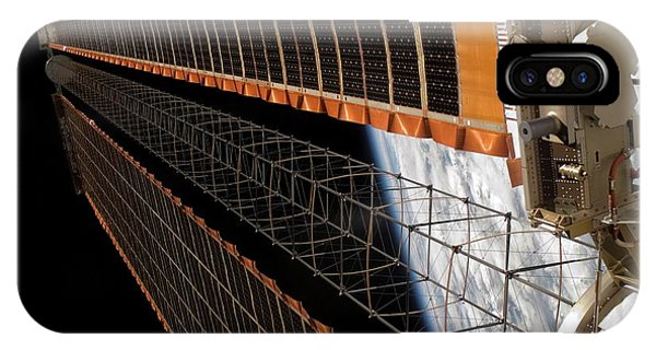 International Space Station iPhone Case - International Space Station Solar Array by Nasa/science Photo Library