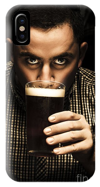 Cold Day iPhone Case - Irish Man Drinking Beer On St Patricks Day by Jorgo Photography - Wall Art Gallery