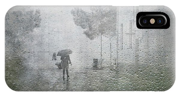 Weathered iPhone Case - It's Raining by Anette Ohlendorf