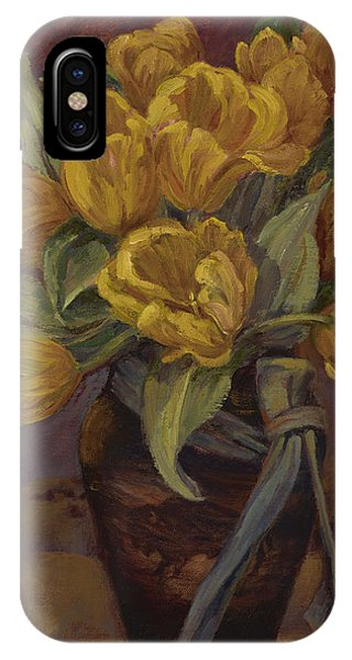 Yellow Tulips- And Buffalo Dreams IPhone Case