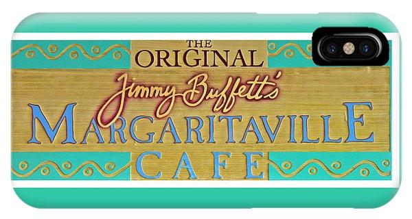 Menu iPhone Case - Jimmy Buffetts Margaritaville Cafe Sign The Original by John Stephens