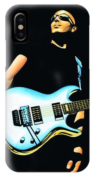 Popstar iPhone Case - Joe Satriani Painting by Paul Meijering