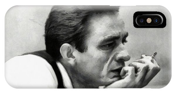 Johnny Cash iPhone Case - Johnny Cash by Martin Deane