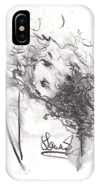 IPhone Case featuring the drawing Just Me by Laurie Lundquist