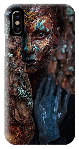 Faces iPhone Case - Keeper Of The Wood by Ivan Kovalev