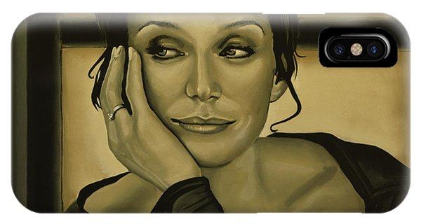 I Love You iPhone Case - Kristin Scott Thomas by Paul Meijering