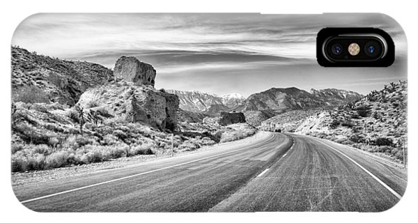 IPhone Case featuring the photograph Kyle Canyon Road by Howard Salmon