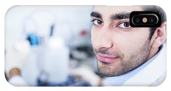 Lab Assistant Using Equipment Phone Case by Science Photo Library