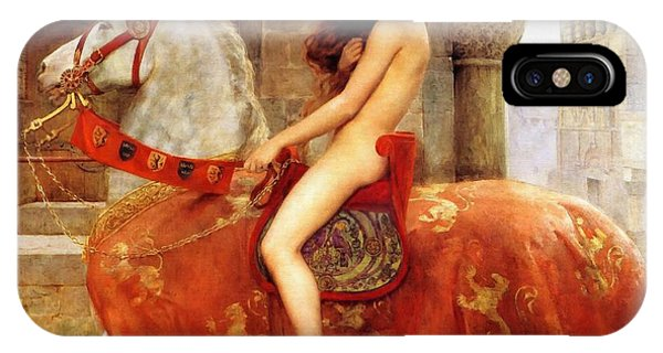IPhone Case featuring the painting Lady Godiva by John Collier