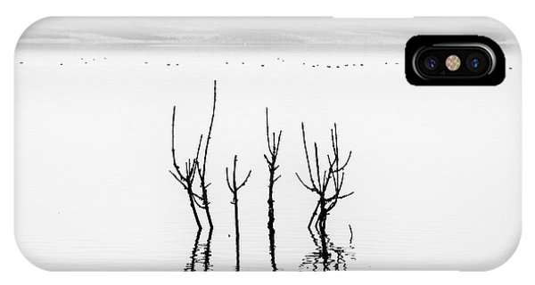 Plants iPhone Case - Lake Reflections by George Digalakis