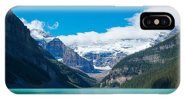 Lake With Canadian Rockies IPhone Case