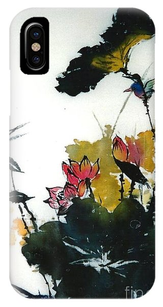 Chinese Flower Brush Painting IPhone Case