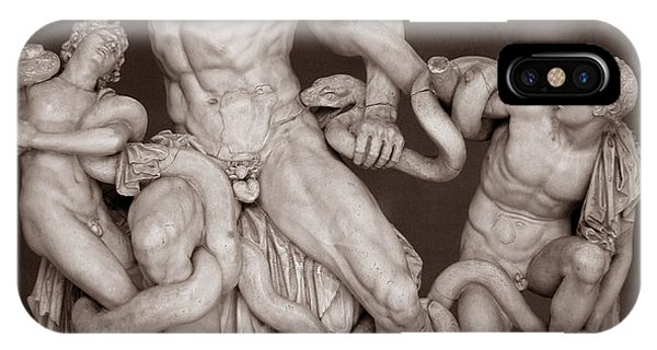 IPhone Case featuring the photograph Laocoon And His Sons by Michael Kirk