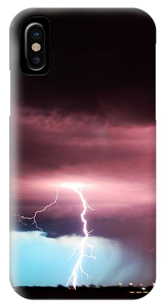 IPhone Case featuring the photograph Late Evening Nebraska Thunderstorm by NebraskaSC