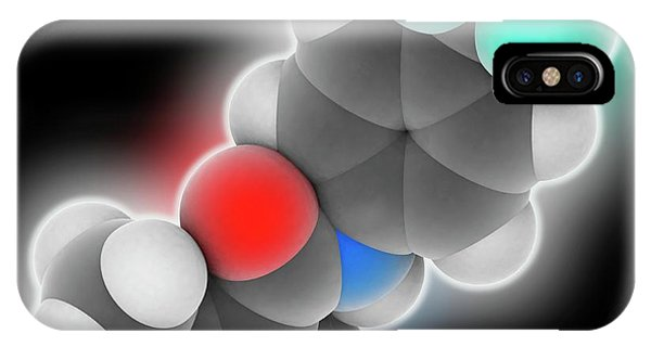 Synthesis iPhone Case - Leflunomide Drug Molecule by Laguna Design