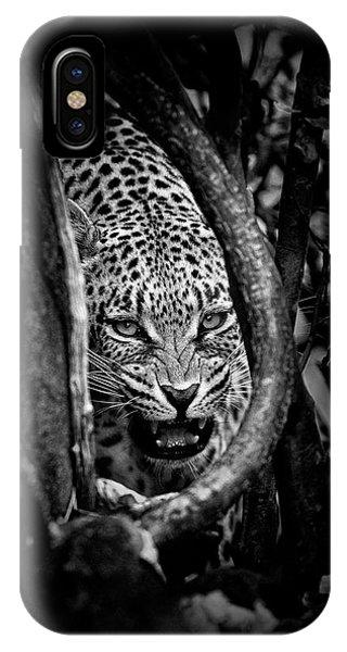 Danger iPhone Case - 'leopard's Lair' by John Moulds