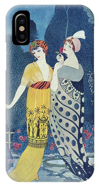 Elegant iPhone Case - Les Modes by Georges Barbier