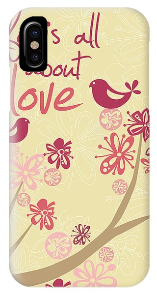 Valentines Day iPhone X Case - Life Is All About Love by Valentina Ramos