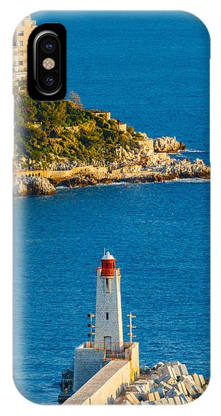 Oceanfront iPhone Case - Lighthouse On The Riviera by Sarit Sotangkur