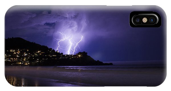 Lightning Over The Ocean IPhone Case