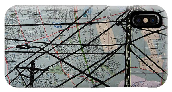 Lines On Map IPhone Case