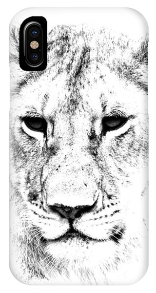 Lion Portrait IPhone Case
