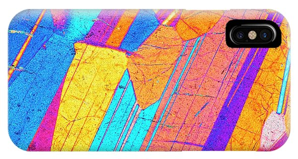Lm Of A Thin Section Of Gabbro Rock Phone Case by Alfred Pasieka/science Photo Library
