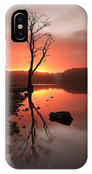 Loch Ard iPhone Case - Loch Ard Sunrise by Grant Glendinning