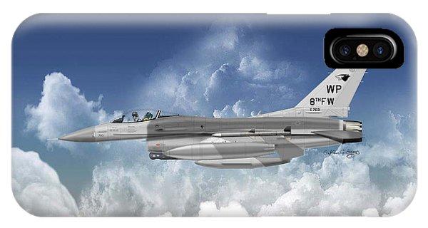 Lockheed Martin F-16c Fighting Falcon Phone Case by Arthur Eggers