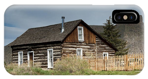 Basalt iPhone Case - Log Cabin by Juli Scalzi