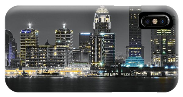 Inner World iPhone Case - Night Lights Of Louisville by Frozen in Time Fine Art Photography