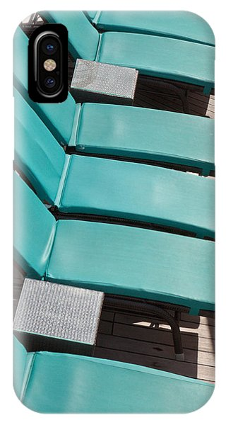 Lounge Chairs On A Cruise Ship IPhone Case